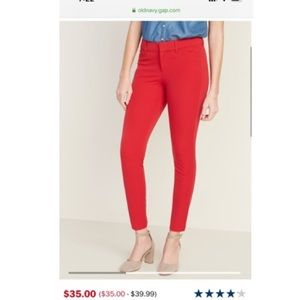 Old Navy mid rise Red pixie ankle pant